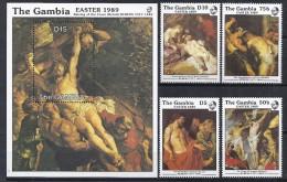 PINTURA - GAMBIA 1989 - Yvert #789/92+H64 - MNH ** - Rubens