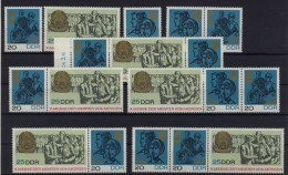Lot DDR ZD Michel No. 1320 - 1322 /  W Zd 177 - 182 ** postfrisch