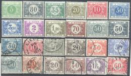 3Rv615: Restje Van 24  Strafportzegels....om Verder Uit Te Zoeken.... Enkele Niet Gebruikt...met Spoor Scharniertje... - Timbres