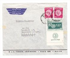 Brief Von Haifa Mit Mi.# 2 X 24 U. 19 Nach Zürich - Israel
