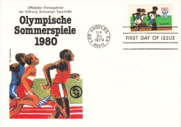 OLYMPISCHE SPIELE-OLYMPIC GAMES, USA, 1979, FDC / Special Cancellation !! - Estate 1980: Mosca
