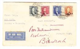 Irak - Erstflug Basrah-Bahrein Brief 5.10.1932 Mit AK-O Und Retour Gesendet - Sign. Joffe - Iraq
