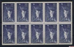 France: 1937 Yv 352 10-block MNH/** - Unused Stamps
