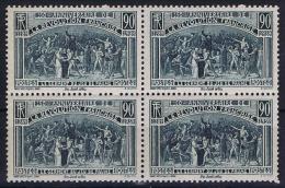 France: 1939 Yv 444  4-block MNH/** - Unused Stamps