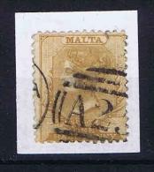 Malta, 1863  Mi 2 A Used. Perfo 12,50 - Malta (...-1964)
