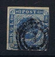 Denmark: 1854, Mi Nr 3, Yv Nr 3 - Gebruikt