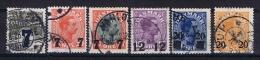 Denmark: 1926, Yv. 168-173  Used - 1913-47 (Christian X)
