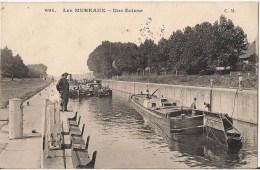LES MUREAUX UNE ECLUSE  CPA NO 691 PENICHE - Les Mureaux