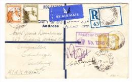 Zensur R-Flug Brief 17.5.1940 Nach Scottland Frankiert Palästina Marken Gest. Field Post Office 120 - Palestine