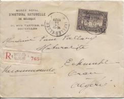 TP 145 S/L.recommandée C.Ixelles En 1924 V.Oran Algérie PR840 - Belgium