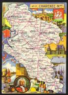 CPSM Gf .Dépt. CHARENTE MARITIME. Carte Departementale N° 17. Blondel  La Rougerie - Francia