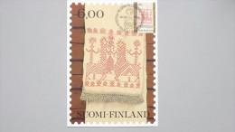 "Finnland 862 Yt 826, SG 898 Fa 865  Maximumkarte MK/CM, SST NORDIA ´81, 9.5.81, ""Käspaikka"": Karelische Stickerei - Finland"