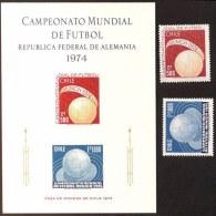 CHILE  - SOCCER - GERMANY  WM  - 1974 - **MNH - Coppa Del Mondo