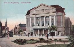 CPA Grub Aus Magdeburg Zentral Theater - Animée - Magdeburg