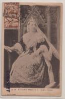 MALTA - 1910  Yvert # 12 (x4 In 2 Pairs) On Superb QUEEN VICTORIA Postcard (PRINTED IN NAPOLI) Sent  VALETTA To MARYLAND - Malta