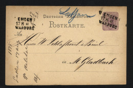 D.R.Bahnpost-o,Emden-Warb Urg (6700)  Preis Wurde Reduziert !! - Deutschland