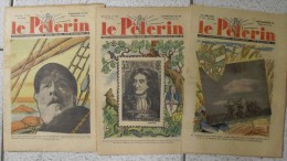 3 N° Le Pèlerin 1938-1939. BD Pat'apouf De Gervy. - Magazines Et Périodiques