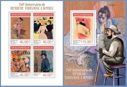 m14116ab Mozambique 2014 Painting Post-Impressionism Henri de Toulouse - Lautrec 2 s/s