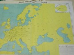 Carte Radiophonique D' Europe - Kaart Radio Verbindingen In Europa - Cartes