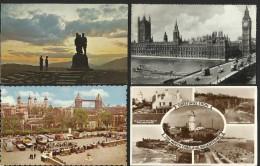 England - Lot  Gemischt   83 Stück   (14 Mit Frankatur) - Ansichtskarten