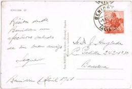 9349. Postal BENIDORM (Alicante) 1961. Vista Poblacion - 1931-Heute: 2. Rep. - ... Juan Carlos I