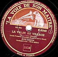 78 Trs - LA VOIX DE SON MAITRE  K- 8348 - état EX - Jean SABLON -  ALLEZ LUI DIRE QUE JE L´AIME - LA VALSE AU VILLAGE - 78 T - Disques Pour Gramophone