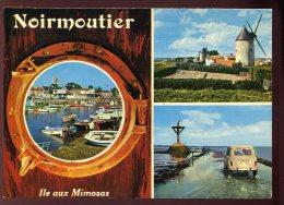 CPM 85 Ile De Noirmoutier Multi Vues Le Port Les Moulins Passage Du Gois Renault4 - Ile De Noirmoutier