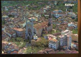 CPM Neuve Espagne Mallorca SOLLER Vista Aerea La Iglésia Perroquial - Mallorca