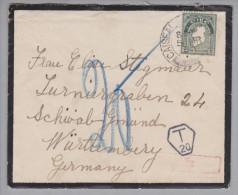 Irland 1930-03-05 Caiseal Trauerbrief Nach Schwäb.Gmünd Taxiert Nachgebühr - 1922-37 État Libre D'Irlande