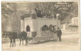 Carte Photo  Attelage   Char  Eldorado  DIGNE   1923  4 Ieme Prix - Digne