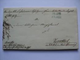1849 AUSTRIA VORPHILA ENTIRE GRAZ (GRATZ) TO ZWETTL - ...-1850 Vorphilatelie