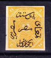 Ägypten - Probedruck 1866 2 Pi. MI.#5 Attest Diena - 1866-1914 Khédivat D'Égypte