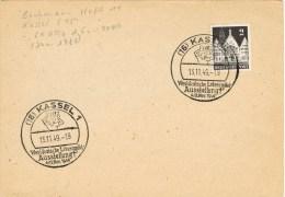 9357. Tarjeta KASSEL (alemania Zona Anglo Americana) 1949 - Zona Anglo-Américan