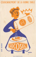 BU 1033 / BUVARD   SEL DE TABLE   SOCOSEL - Alimentaire