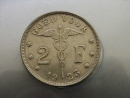 BELGIQUE     2 FRANCS 1923 - 08. 2 Francos