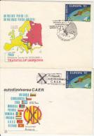 CAER SELF DISOLVING, SPECIAL COVER, 2X, 1991, ROMANIA - 1948-.... Républiques