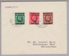 Afrika Britische Agencies Marocco Tanger 1936-06-14 Printed Matter Nach Schinznach Dorf CH - Maroc (1956-...)