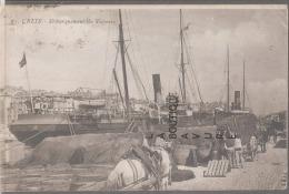 34--CETTE-(Sete) -Débarquement De Vapeur--attelage-Dockers--animé - Sete (Cette)