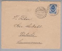 Heimat Finnland ABO-Turku 1901-09-02 Bahnpost - 1856-1917 Administration Russe