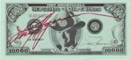 LARRY HAGMAN (USA ACTEUR ) DEDICACE SUR (FAUX) BILLET DE L´ETAT DU TEXAS - Autographes