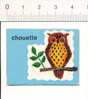 Carton 4,5 X 3,5 Cm  / Humour Oiseau Chouette Hibou / Bird Owl Humor  // IM 51/A - Non Classificati