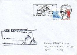 FRANCE. Enveloppe Commémorative De 1990. Porte-hélicoptères Jeanne D´Arc Aux Kerguelen. - Terres Australes Et Antarctiques Françaises (TAAF)