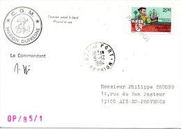 FRANCE. Enveloppe Commémorative De 1984. Marion Dufresne. - Französische Süd- Und Antarktisgebiete (TAAF)