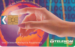 MALAYSIA(chip) - Touching The Future With Smartcard, Telecom Malaysia Telecard RM10, Chip GEM2.1, Used - Malaysia