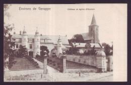 CPA Belgique - Brabant Wallon - Environs De Genappe - Château Et église D' HOUTAIN - Carte Postale  // - Genappe