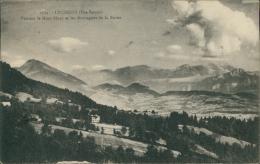 74 LUCINGES / Vue Sur Le Mont-Blanc Et Les Montagnes De La Borne / - Autres Communes
