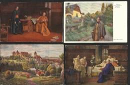 Alte Kunstkarten   37 Stück  Gemischt   Vor 1945 - 5 - 99 Karten