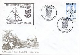 FRANCE. Enveloppe Commémorative De 1987. Charcot. - Terres Australes Et Antarctiques Françaises (TAAF)