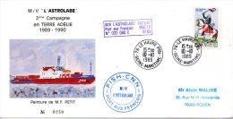 FRANCE. Enveloppe Commémorative De 1989. L´Astrolabe En Terre Adélie. - Terres Australes Et Antarctiques Françaises (TAAF)