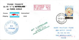 FRANCE. Enveloppe Commémorative De 1988. L´Astrolabe En Terre Adélie. Oblitération De Cap Town. - Autres